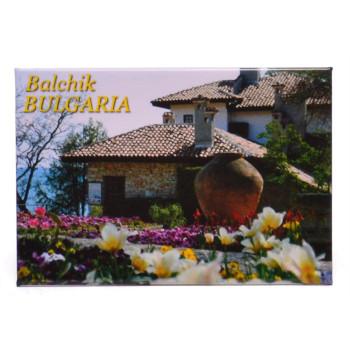 Сувенирна метална пластинка с магнит - двореца в Балик