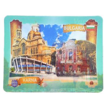 Магнитна пластинка с холограмни изображения - забележителности от Варна