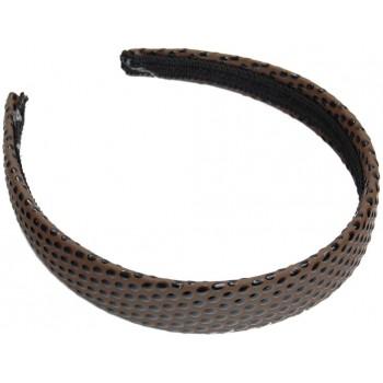 Диадема с широка PVC основа облечена в имитация на змийска кожа