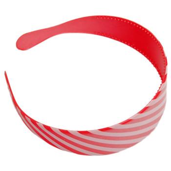 Двуцветна диадема с широка PVC основа