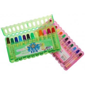 Комплект цветни флумастри - 12 броя, опаковани в РVC кутия
