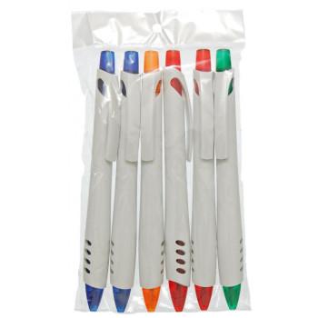 Химикал с плътен бял корпус, клипс и удобен цветен бутон за включване