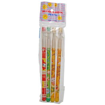 Комплект секторни моливи с капачка с гума и PVC корпус