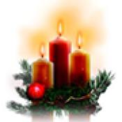 Коледни свещници и свещи