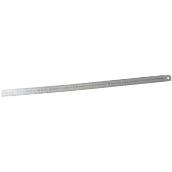 Метална линия, оразмерена в сантиметри и инчове.